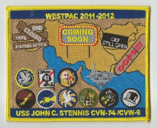 CVN 74 CVW 9 USS JOHN C. STENNIS WESTPAC 2011 12 CRUISE NEW patch