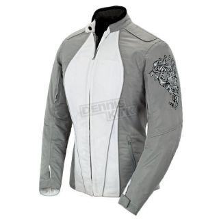 Joe Rocket Womens Silver White Alter Ego 3 0 Jacket