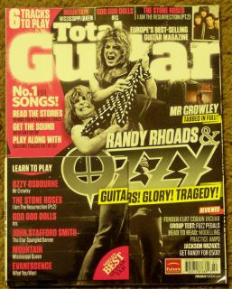 Total Guitar Mountain CD Winter 2011 Randy Rhoads Ozzy Goo Goo Dolls