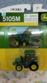 John Deere Tractor 5105M Ertl 1 64 Scale Die Cast w Collector Card