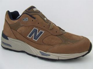 Mens New Balance Classic Trainers 991 TNP Tan Brown Leather Suede