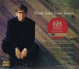 Elton John Love Songs Remastered High Society Gold CD