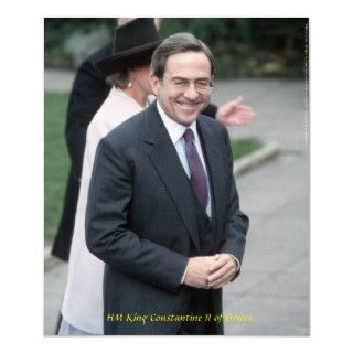 HM King Constantine II of Greece   ο βασιλιάςFor a canvas