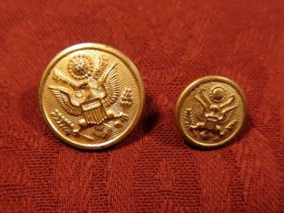 Scarce Lot of 2 Vintage John C L Shabeck Military Insignia Buttons