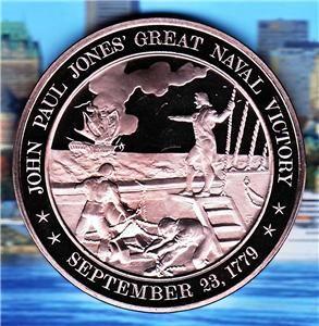 John Paul Jones Great Naval Victory 9 23 1779 Medal