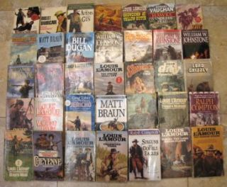 Paperback Books Ralph Compton Louis LAmour William Johnstone