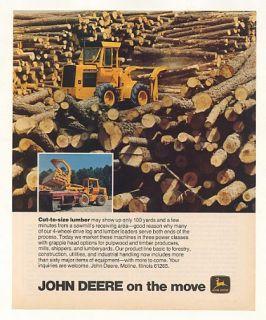 1978 John Deere Log Lumber Loader Tractor Photo Ad