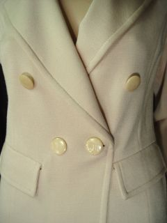 1590 St John Milano Knit Pant Suit Sz 12 Tahitian Pearl Tailored