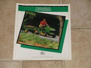 John Deere Lawn Garden Tractor Implements Accessories Brochure