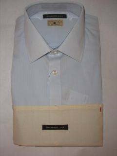 John Varvatos Collared Lt Blue Dress Shirt 15 5 L