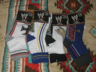 New WWE WWF Wrestling Raw John Cena Triple H HHH Kids Socks Sz 6 8 5