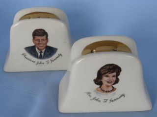President John Kennedy Jackie O First Lady Salt Pepper Shakers