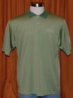 Adidas ClimaCool John Hancock Life Insurance Green Golf Polo Shirt Mens Large