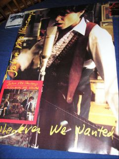 John Cougar Mellencamp Vintage 1991 Whenever We Wanted Promo Poster