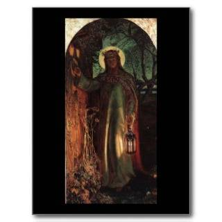 William Holman Hunt Light of the World Post Cards from Zazzle