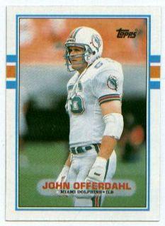 1989 Topps Card 295 John Offerdahl ILB Miami Dolphins
