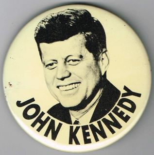 """3"""" John Kennedy Lithograph Pin Pinback Button C260"""