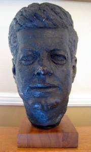 Vintage 1964 John F Kennedy Bust Sculpture Austin Production RARE Wood Base