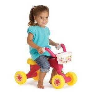 John Deere Girl Pink Tricycle Ride on Toy Trike Cycle Child Kids Toddler Bike