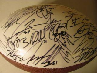 2012 13 Baltimore Ravens Team Signed Logo Football Ray Lewis Rice Ed Reed