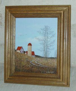 John Lewis Egenstafer Oil Painting Farm House New York Area Artist