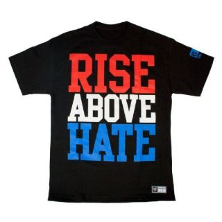 John Cena Rise Above Hate WWE Authentic T Shirt Official Licensed Brand New