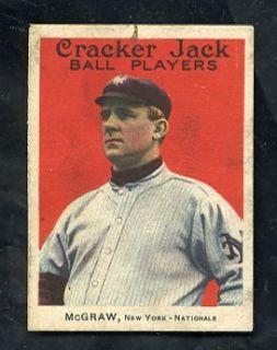 E145 1914 Cracker Jack Series 144 69 John McGraw New York Giants HOF VG scarce