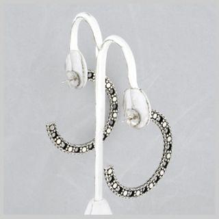 125332 JOHN HARDY Dot Sterling Silver Large Flat Hoop Earrings