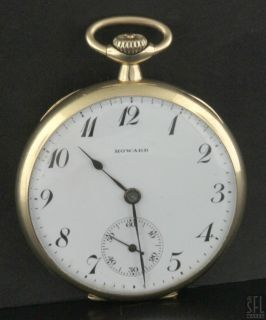 E Howard Watch Co Boston USA Antique 14k Gold Pocket Watch w Box Papers