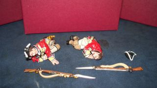 John jenkins BM 26 BRITISH LINE INFANTRY CASUALTIES 2 PC SET RETIRED