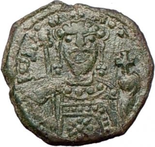 John II Comnenus 1118AD Authentic Ancient RARE Byzantine Coin Jesus Christ