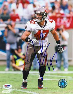 John Lynch Signed Autographed 8x10 Bucs Photo PSA DNA COA