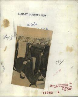 1962 Press Phoo Sg John Lynch horse Leo Dr L Sickles a MCPCA |
