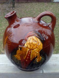 Royal Doulton Lambeth Kingsware John Barleycorn Whisky Flagon Flask Jug Noke