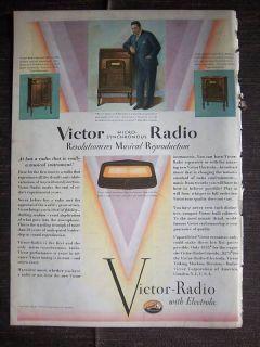 1929 RCA Victor Radio Electrola Radio John McCormack Ad