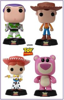 "Funko Pop  Toy Story Buzz Woody Jessie Lotso 4 3 75"" Set"