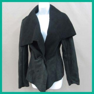 John Paul Richard Women's Frock Closure Jacket Black Lam Luxury XLarge $45 Jmto