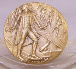 JOHN PAUL JONES Medallic Art Hall of Fame for Great Americans at NYU Bronze