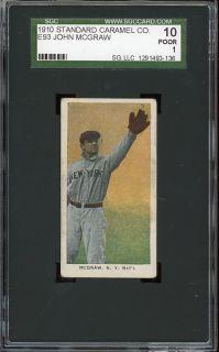 1910 E93 John McGraw HOF New York Giants SGC 10