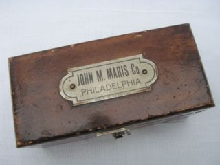 Old John M Maris Co Philadelphia Brass Scale Counter Weights Medical School