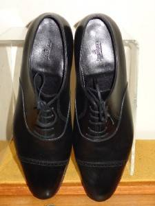 John Lobb Philip II Black Calf Leather Cap Toe Oxford Shoes Size 10 1 2 E1000