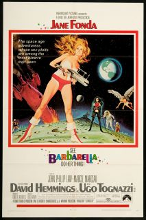 Barbarella 1968 Original U s One Sheet Movie Poster