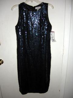 Mark John Gopal Black Silk Sequined Sleeveless Gown