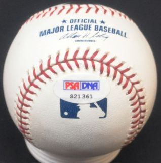 JOHN SMOLTZ Hand signed Autographed Baseball ball PSA DNA COA