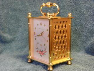 John Wanamakers Imhof 15 Jewel Musical Alarm Clock with 2 Tune Thorens Music Box