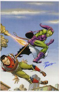 John Romita SR Signed Spider Man Green Goblin Poster