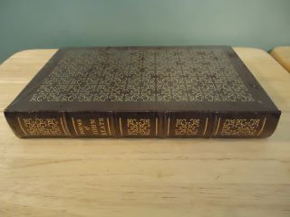 Easton Press Leather 100 Greatest Books Ever Written POEMS OF JOHN KEATS NEW