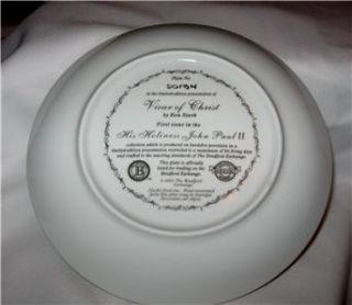 Bradford Exchange Collector Plate Pope John Paul II New