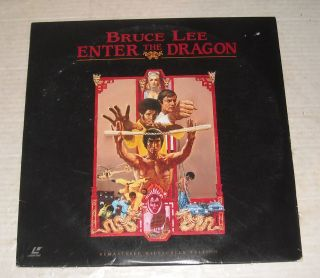 Movie Laserdisc 1973 Enter The Dragon Bruce Lee Bob Wall John Saxon