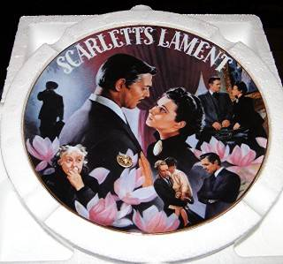 Gone with The Wind Musical Treasures Porcelain Bradford Scarlett's Lament Plate